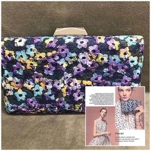 SR Embroidered Flowers Denim Clutch in RealSimple!